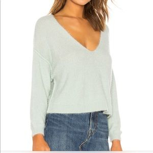 NWT Free People Princess V Sweater In Mint Large